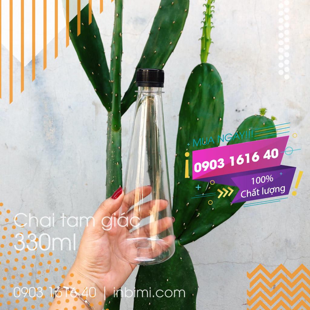 chai-nhua-tam-giac-330ml-co-tinh-tham-my-cao